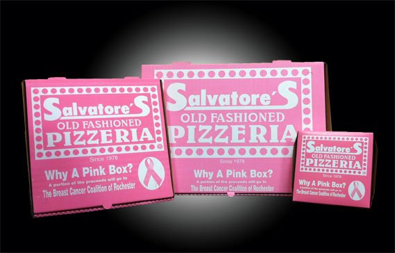 Salvatore's Old Fashioned Pizzeria Pink Box