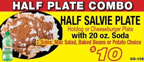 Salvatore's cheeseburger plate combo