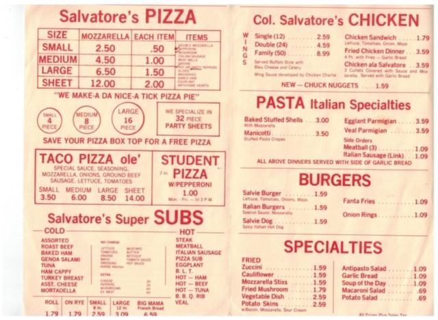 The Salvatore S Pizza Story Rochester Ny
